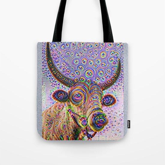 Jeweled Bull Tote Bag