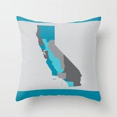 I Love California - California State Map Print Throw Pillow
