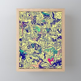 Kamasutra LOVE - Piss Yellow Framed Mini Art Print