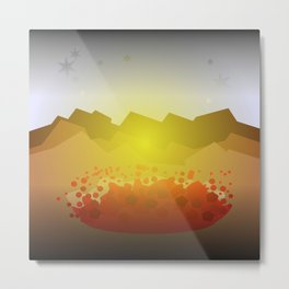 Icelandic volcano Metal Print
