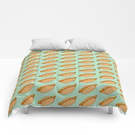 Hot Dog Pattern Comforters
