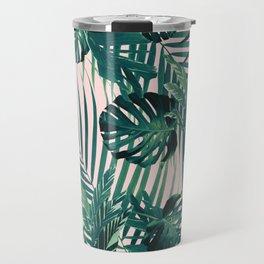 Tropical Jungle Leaves Siesta #2 #tropical #decor #art #society6 Travel Mug