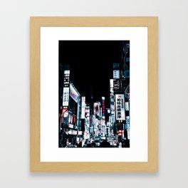 Kabukicho Signs Framed Art Print