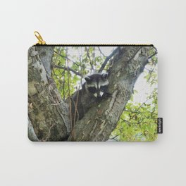 Baby Raccoon on a tree Carry-All Pouch