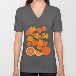 Orange Harvest - White Unisex V-Ausschnitt