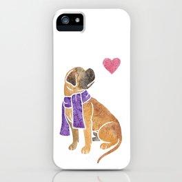 Watercolour Bullmastiff iPhone Case