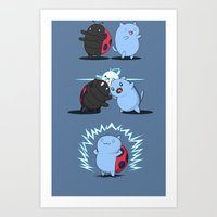 catbug Art Prints featuring Fusion of a cat and a bug by FuManChou