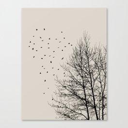 Come On Home - Graphic Birds Series, Plain - Modern Home Decor Canvas Print