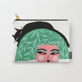 LEAFY HAIR Carry-All Pouch