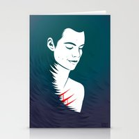 stiles stilinski Stationery Cards featuring Teen Wolf Stiles Stilinski by neonico