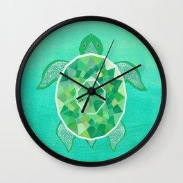 Turtle - Emerald Wall Clock