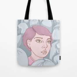 Against the Wave Tote Bag
