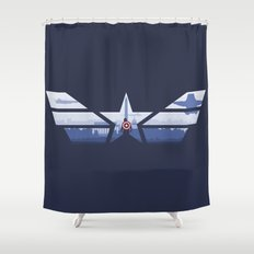 The Captain (Stars and Stripes) Shower Curtain