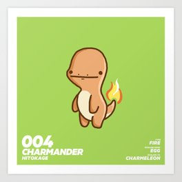 004 Charmander Art Print