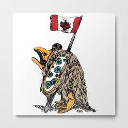 Canadian Goose (Colored) Metal Print