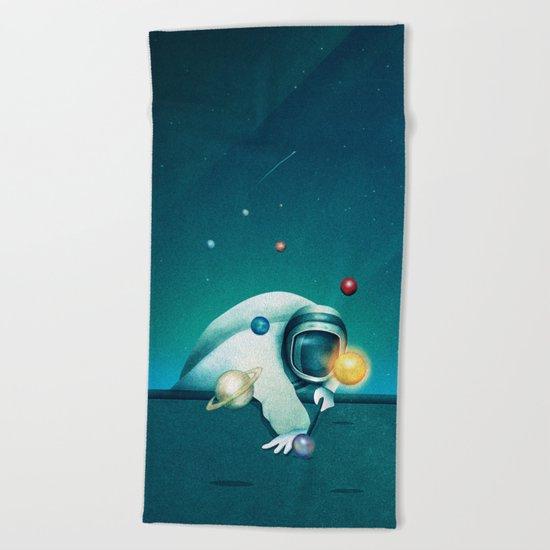 Astronaut Billards Beach Towel
