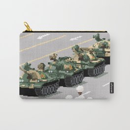 Pixelated Tank Man Carry-All Pouch