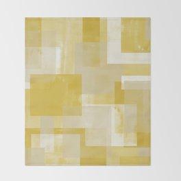 Modern Abstract No. 19 | Citron Throw Blanket