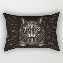 Bastet Egyptian Goddess - Sepia Rectangular Pillow