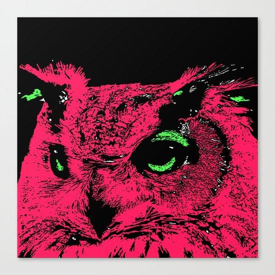 neon owl Canvas Print