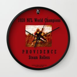 1928 American Football World Champions Providence Steam Rollers Wall Clock