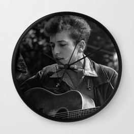 YOUNG BOB DYLAN Wall Clock