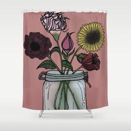 Jar of Flowers Shower Curtain