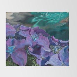 Hydrangeas Throw Blanket