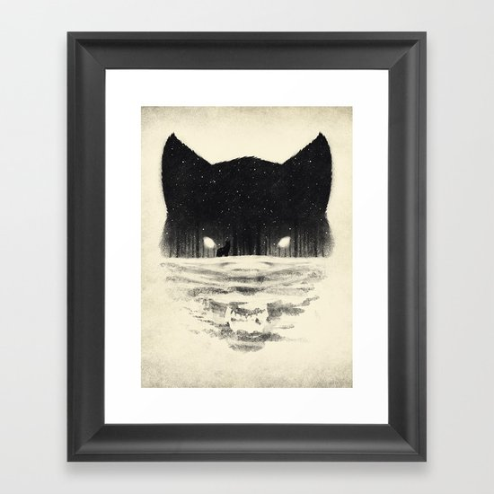 Wolfy Framed Art Print