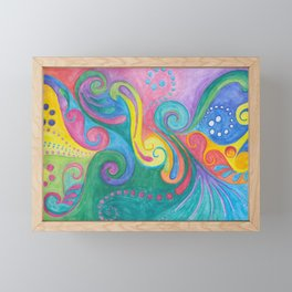 Swirls N Whirls Framed Mini Art Print