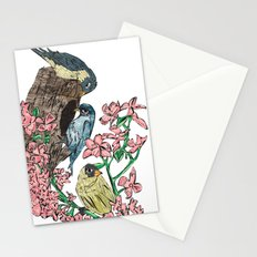 Birds with blossom Stationery Cards