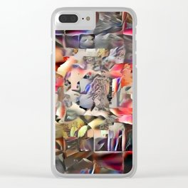 (Was) Green Mold Mandala 6 Clear iPhone Case