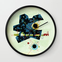 Retro Atomic factory cosmic splender Wall Clock