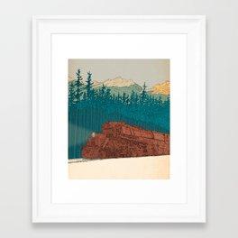 North-bound Train Framed Art Print