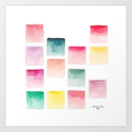 Summer Paint Chips Flat Lay Photograph Art Print