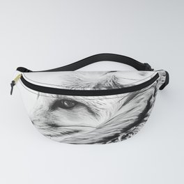 red fox digital acryl painting acrbw Fanny Pack