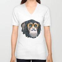 monkey island V-neck T-shirts featuring Monkey! by  Steve Wade ( Swade)