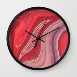 liquefied red Wall Clock