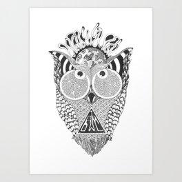 I am Owl Art Print