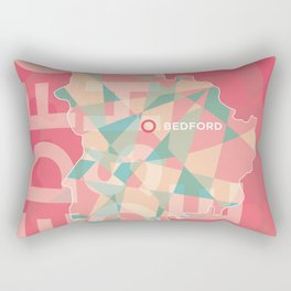 Bedfordshire County Poster Rectangular Pillow