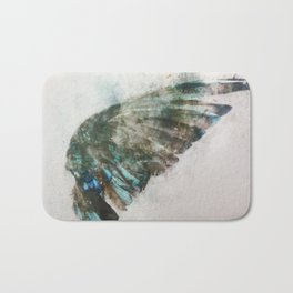 An angel lost its wing Bath Mat