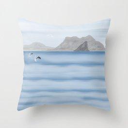 Rock of Gibraltar Throw Pillow