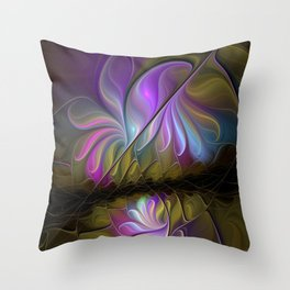 Come Together, Abstract Fractal Art Throw Pillow