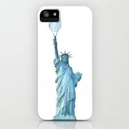 Statue of Liberty with Tennis Racquet iPhone Case