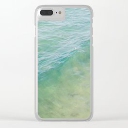Peaceful Waves Clear iPhone Case