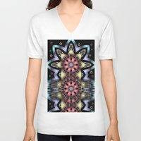 fairy tale V-neck T-shirts featuring Fairy-tale stars lake by thea walstra