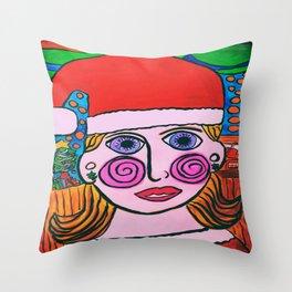 """Mary's Happy Christmas"" Throw Pillow"