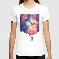 night T-shirts featuring Painting the universe by badbugs_art