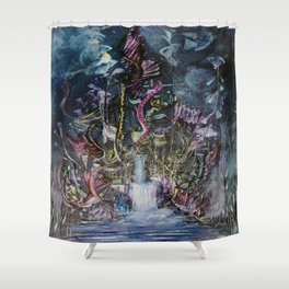 Waterfall of Wishes Shower Curtain