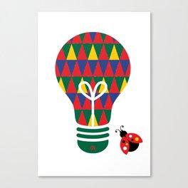 Bon Vivant: Bright Idea Art Series  Canvas Print